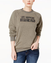 Kid Dangerous Cotton Coffee Graphic Sweatshirt