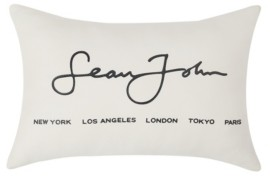"Sean John Closeout! Color Block Jersey 12"" X 20"" Decorative Decorative Pillow Bedding"