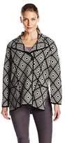 Heather B Women's Boiled Wool Short Diamond Jacket