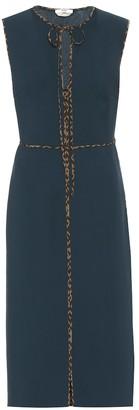Fendi Virgin wool crApe midi dress