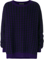 Haider Ackermann dogtooth embroidered sweater