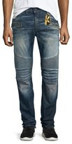 Robin's Jeans Racer Ribbed Moto Jeans, Blue