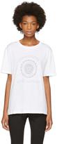 Saint Laurent White Oversized université T-shirt