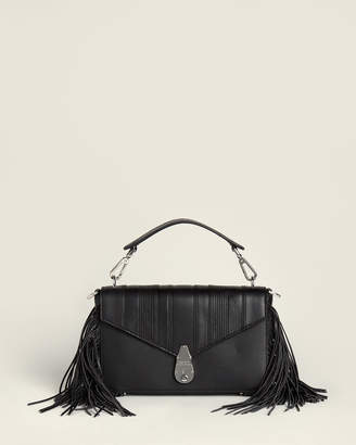 Calvin Klein Statement Series Lock Leather Shoulder Bag