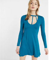 Express strappy front trapeze dress