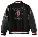 U.S. Polo Assn. Kids PU Varsity Jacket (Big Kids)