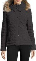 Andrew Marc Tess 4-Way Stretch Jacket w/ Faux-Fur Hood