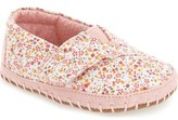 Toms 'Alpargata' Crib Shoe (Baby Girls)