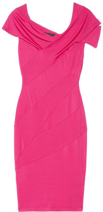 Donna Karan Draped stretch-sateen jersey dress