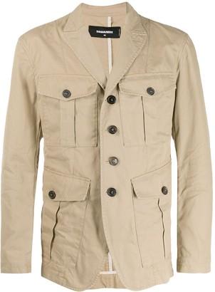 DSQUARED2 Oversized Pocket Military Jacket