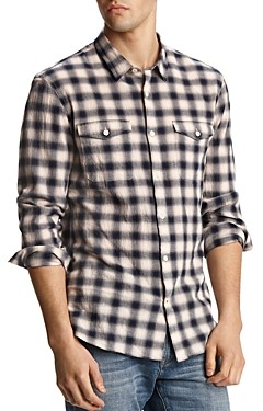 John Varvatos Dale Plaid Regular Fit Shirt
