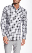 Vince Camuto Gingham Plaid Long Sleeve Slim Fit Shirt