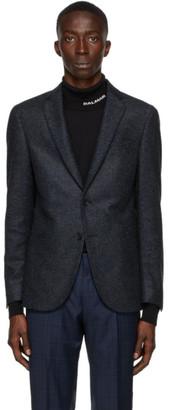 HUGO BOSS Blue and Black Norwin Blazer