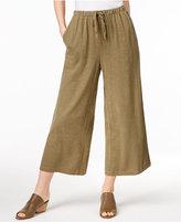 Eileen Fisher Cropped Wide-Leg Pants