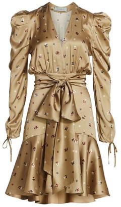 Silvia Tcherassi Jane Puff Sleeve Floral Flounce Dress