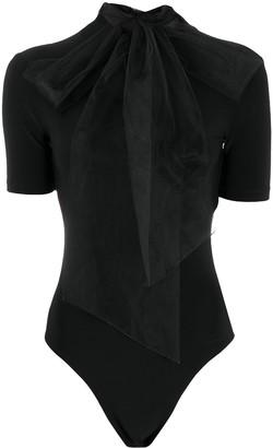 Atu Body Couture Mesh-Detail Bodysuit