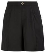 Dorothy Perkins Womens Black Button Seam Shorts, Black