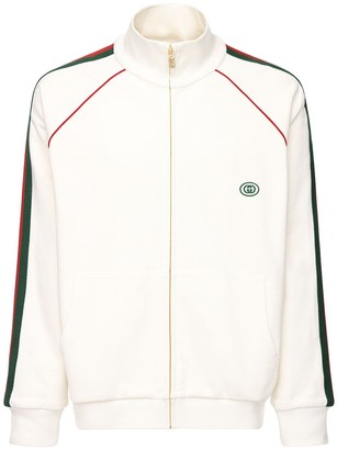 Gucci Gg Patch & Web Cotton Track Jacket