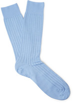 Pantherella - Pembrey Ribbed Sea Island Cotton-blend Socks