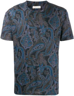 Etro short sleeve paisley pattern T-shirt