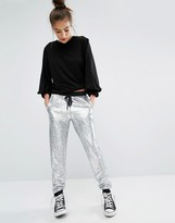 Glamorous Holographic Sequin Joggers