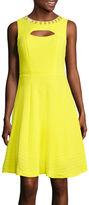 Studio 1 Embellished Fit-and-Flare Dress