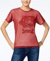 Freeze 24-7 Juniors' Mesh-Overlay Tiger Graphic T-Shirt