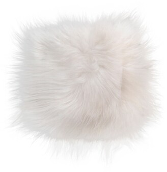 "Natural Icelandic Genuine Sheepskin Chair Pad - 15""x15"" - White"