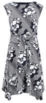 Dorothy Perkins Womens Izabel London Multi Coloured Floral Print Tie Waist Tea Dress