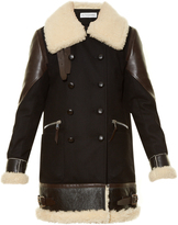 Altuzarra Ismir shearling-trimmed wool-blend coat