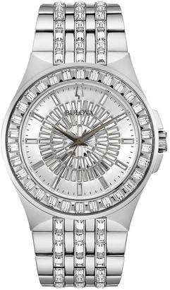 Bulova Men's 96A236 Stainless Crystal Pave Bracelet Watch