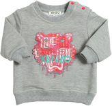 Kenzo Logo Embroidered Cotton Sweatshirt