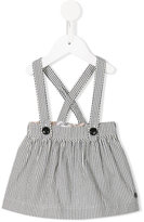 Burberry striped dungaree skirt - kids - Cotton - 6 mth