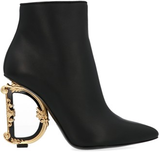 Dolce & Gabbana Monogram Embellished Heel Boots