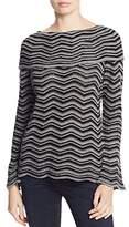 Nic+Zoe Chevron Stripe Overlay Sweater - 100% Exclusive