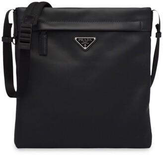 Prada Logo Plaque Square Messenger Bag
