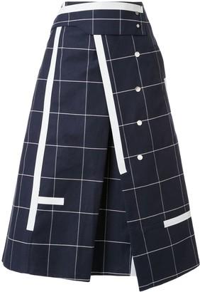 3.1 Phillip Lim Window Pane Trench Skirt