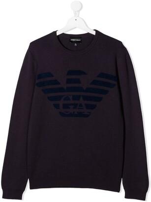 Emporio Armani Kids Logo Print Sweatshirt