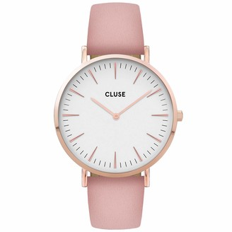Cluse Womens Analogue Quartz Watch with Leather Strap CW0101201012