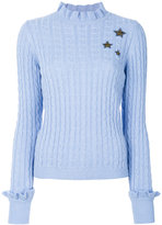 RED Valentino embroidered star jumper - women - Polyamide/Viscose/Angora/Wool - S