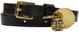 Alexander McQueen Black Skull Charm Double Wrap Bracelet