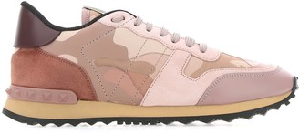 Valentino Rockstud Rockrunner Camouflage Sneakers