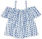 Ralph Lauren Girls' Off the Shoulder Paisley Top - Sizes 2-6X