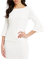 Preston & York Olivia Round Neck 3/4 Sleeve Top