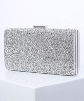Angedanlia Women's Clutches Silver - Silver Rhinestone Metallic Clutch