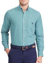 Chaps Big and Tall Plaid Stretch Poplin Shirt