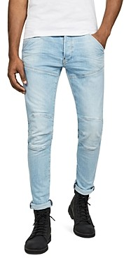 G Star 5620 3-d Slim Fit Jeans in Sun Faded Crystal Blue