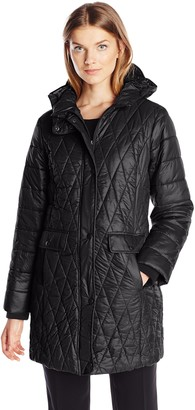 Kenneth Cole New York Kenneth Cole Women's Lightweight Diamond Quilted Coat