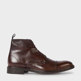 Paul Smith Men's Dip-Dyed Brown Calf Leather 'Jarman' Boots
