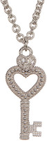 Judith Ripka Sterling Silver Key Heart Necklace